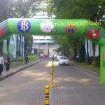 Jual, Produksi dan sewa balon gate murah logo Bank Indonesia