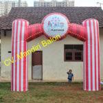 Jual, Produksi dan sewa balon gate murah logo karnaval 3