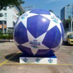 Jual Balon Pantai / Balon Bulat Murah dengan Logo Aqua