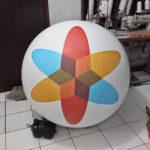 Jual Balon Pantai / Balon Bulat Murah dengan Logo Indosat