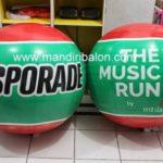 Jual Balon Pantai / Balon Bulat Murah dengan Logo Sporade