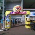 Jual, Produksi dan sewa balon gate murah logo Extra joss