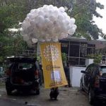 Balon gas Pelepasan murah logo indosat
