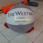 Jual Balon Pantai / Balon Bulat Murah dengan Logo the westin resort