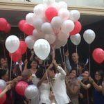Balon Gas Pelepasan murah acara prewedding