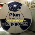 Jual Balon Pantai / Balon Bulat Murah dengan Logo Plan indonesia