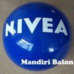 Jual Balon Pantai / Balon Bulat Murah dengan Logo Nivea