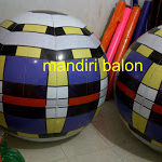 Jual Balon Pantai / Balon Bulat Murah dengan Logo Corak