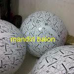 Jual Balon Pantai / Balon Bulat Murah dengan Logo Batik