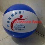 balon pantaiJual Balon Pantai / Balon Bulat Murah dengan Logo Permari