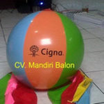Jual Balon Pantai / Balon Bulat Murah dengan Logo Cigna