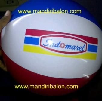 Jual Balon Pantai / Balon Bulat Murah dengan Logo Indomaret
