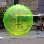 Jual Balon Pantai / Balon Bulat Murah dengan Logo Tranparant hijau