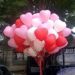 Balon Gas Pelepasan murah bentuk hati