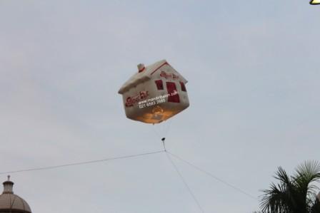 Jual Balon Duduk / Balon Karakter Bentuk Rumah Murah