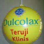 jual balon koin / balon coin murah logo dulcolax