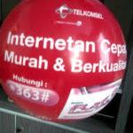 jual balon coin murah logo Telkomsel