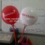 jual balon coin / balon koin murah logo sharp