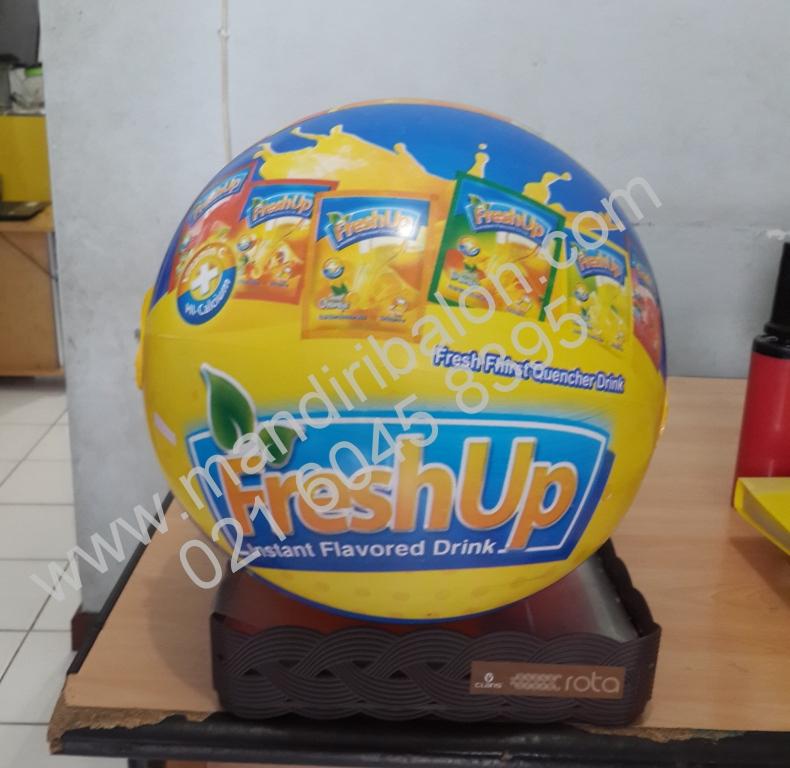 Jual Balon Pantai / Balon Bulat Murah dengan Logo Nutri food