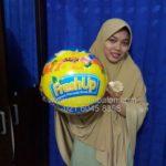 Jual Balon Pantai / Balon Bulat Murah dengan Logo Fresh Up 2