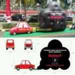 Jual Balon bentuk mobil dan asap Murah