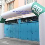 Jual, Produksi dan sewa balon gate murah logo Oto plus