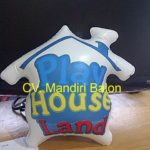 Jual Balon Duduk / Balon Karakter Bentuk rumah Kecil Murah