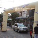 Jual, Produksi dan sewa balon gate murah logo metro tv