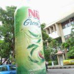 Jual dan Produksi Balon Botol Nu Green Tea untuk display outdoor