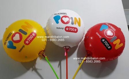 Jual Balon Koin logo telkomsel poin murah